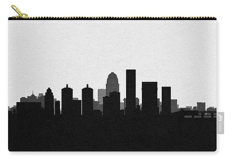 Louisville Carry-all Pouch featuring the digital art Louisville Cityscape Art by Inspirowl Design