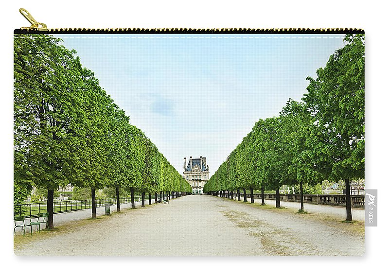 Scenics Carry-all Pouch featuring the photograph Louvre In Paris by Nikada
