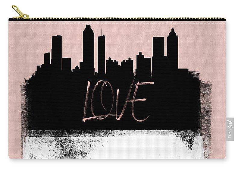 Atlanta Carry-all Pouch featuring the mixed media Love Atlanta by Naxart Studio