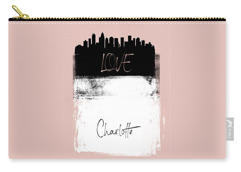 Charlotte Carry-all Pouch featuring the mixed media Love Charlotte by Naxart Studio