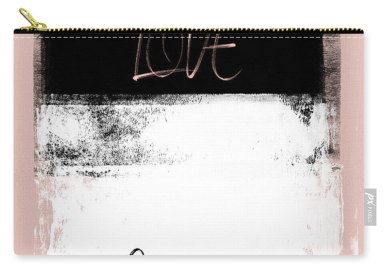 Cleveland Carry-all Pouch featuring the mixed media Love Cleveland by Naxart Studio