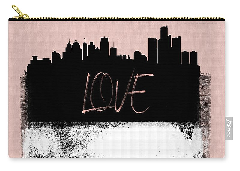 Detroit Carry-all Pouch featuring the photograph Love Detroit by Naxart Studio