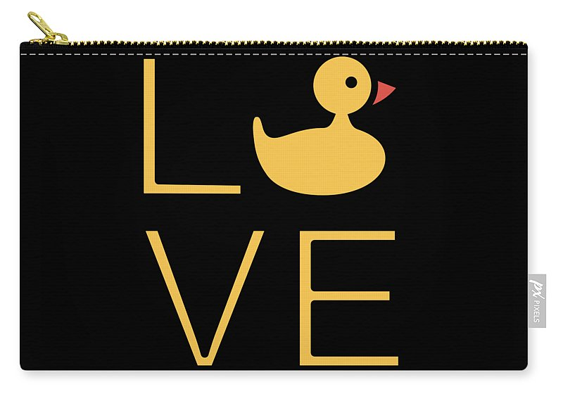 Love Carry-all Pouch featuring the digital art Love Ducks Super Cute And Very Fun Love Gift Idea Design by DogBoo