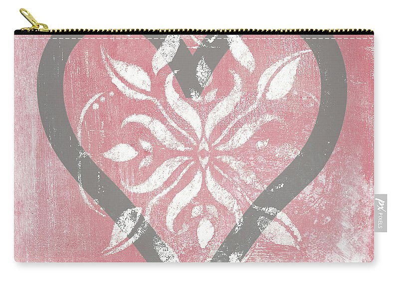 Peace Carry-all Pouch featuring the mixed media Love by Hakimipour-ritter