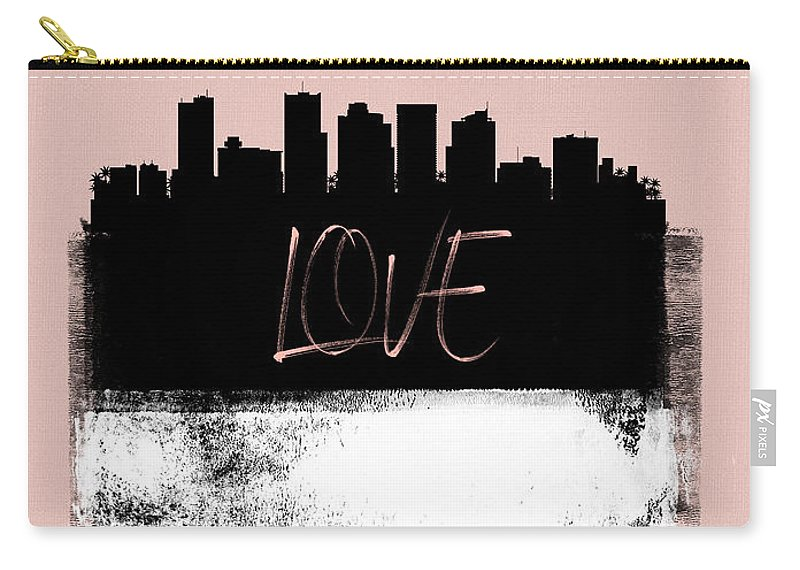 Phoenix Carry-all Pouch featuring the mixed media Love Phoenix by Naxart Studio