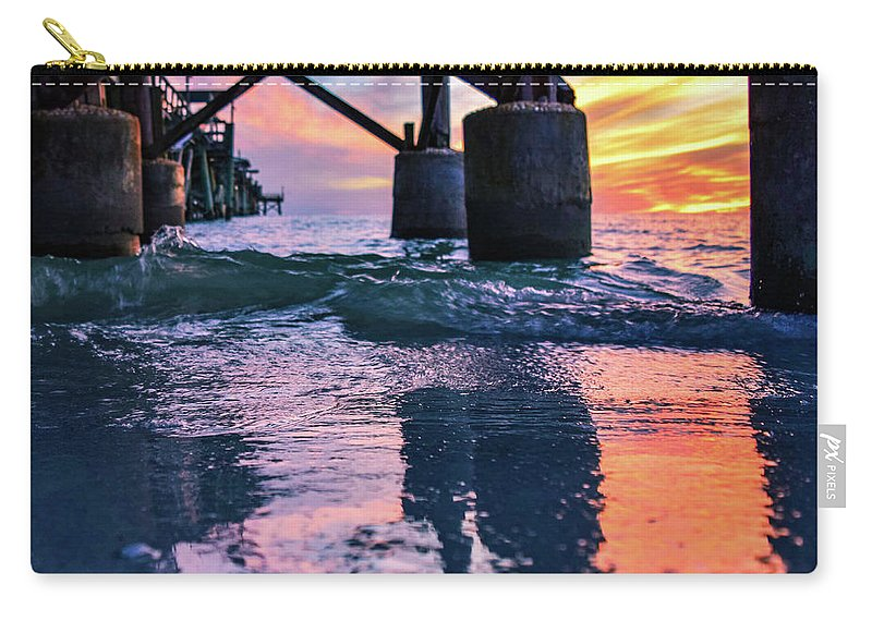 Sunset Carry-all Pouch featuring the photograph Lovestruck II by Ashleena Valene Taylor