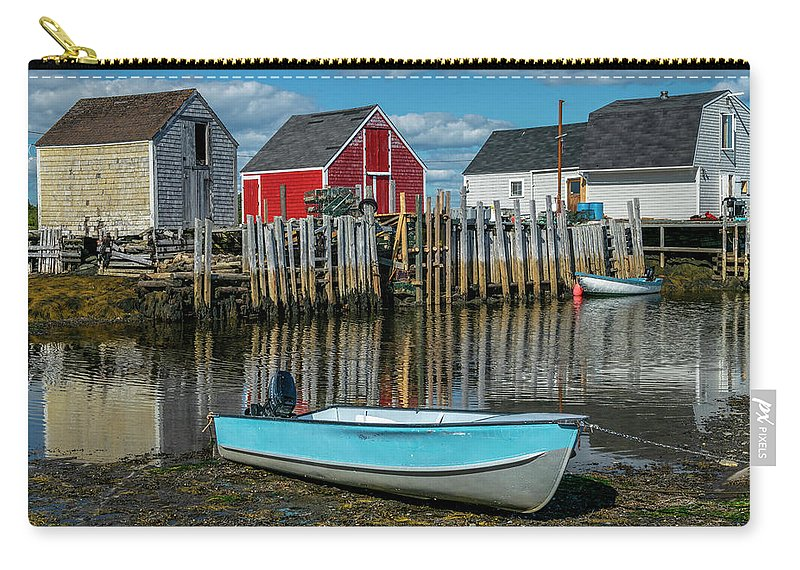 2018 Carry-all Pouch featuring the photograph Low Tide At Blue Rocks 02 by Ken Morris