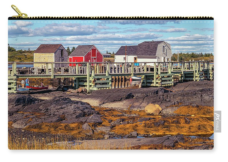 2018 Carry-all Pouch featuring the digital art Low Tide At Blue Rocks 05 by Ken Morris