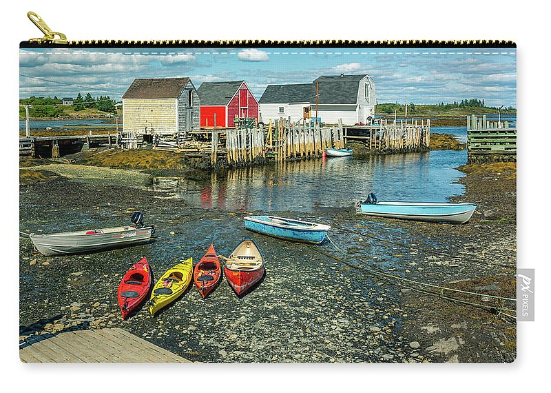 Blue Rocks Carry-all Pouch featuring the photograph Low Tide At Blue Rocks 01 by Ken Morris