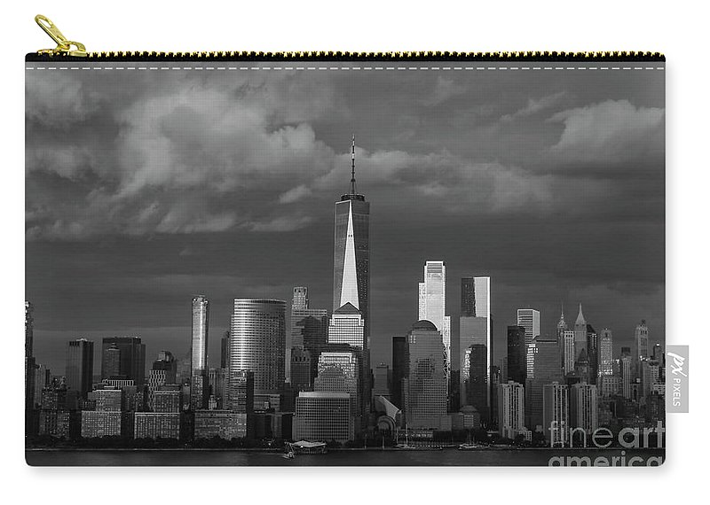 Wall Art Carry-all Pouch featuring the photograph Lower Manhattan by Devin Crowe