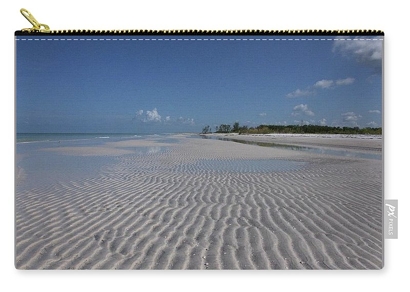 Beach Carry-all Pouch featuring the photograph Lowtide Ripples by Eagle Finegan