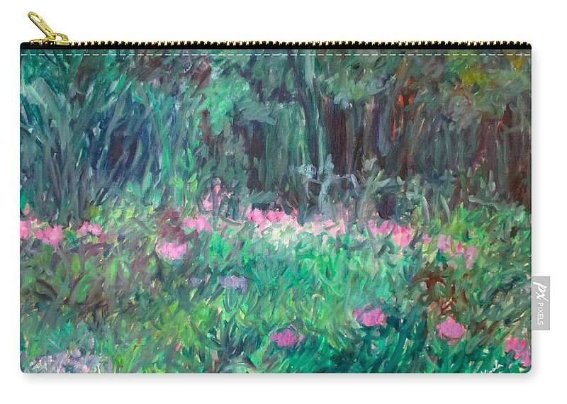 Magenta Carry-all Pouch featuring the painting Winding Magenta Stage One by Kendall Kessler
