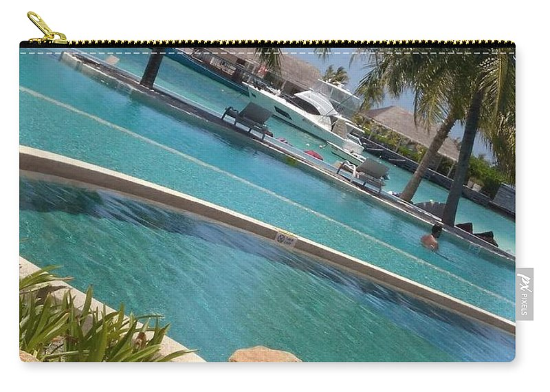 Water Carry-all Pouch featuring the photograph Maldivies by Aswini Moraikat Surendran