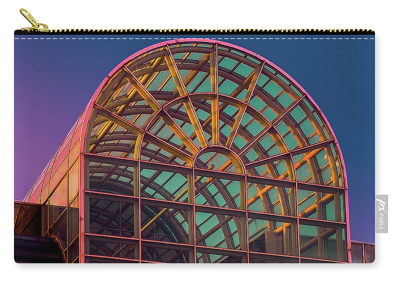 King Of Prussia Carry-all Pouch featuring the photograph Mall Sundown by Joel Friedman