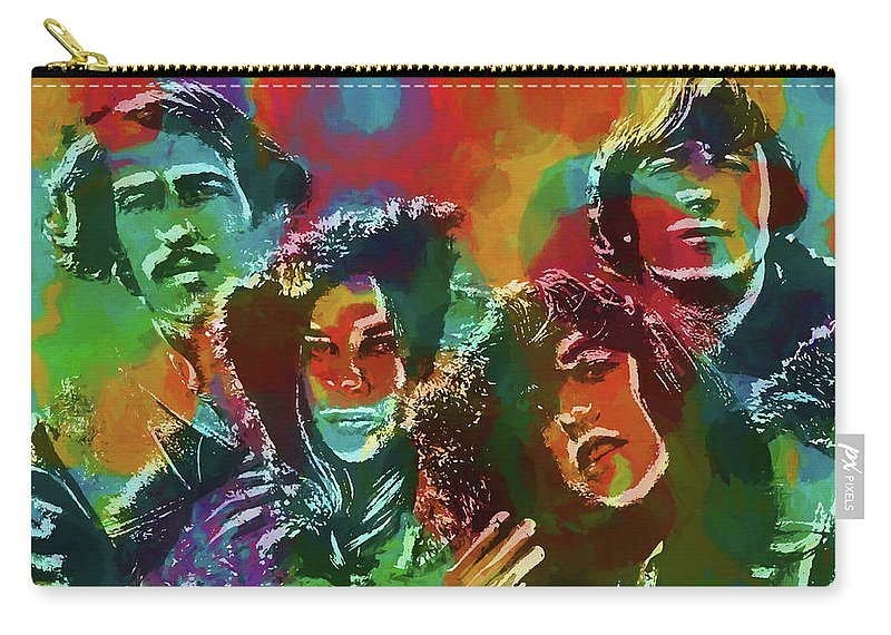 Mamas And The Papas Carry-all Pouch featuring the painting Mamas And The Papas by Dan Sproul