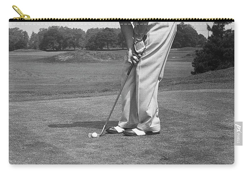 People Carry-all Pouch featuring the photograph Man Golfing by George Marks