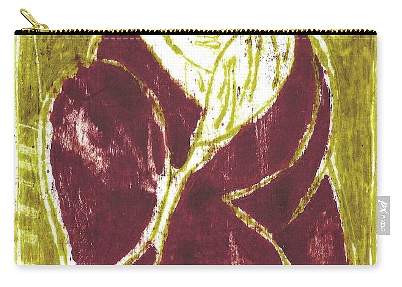 Hat Carry-all Pouch featuring the painting Man In A Crimson Hat by Artist Dot