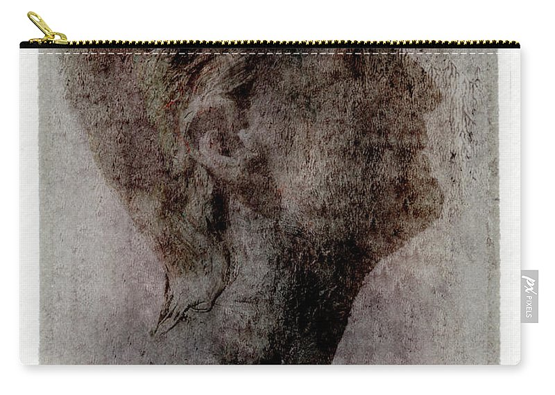 Mature Adult Carry-all Pouch featuring the photograph Man Looking Up, Side View by Win-initiative