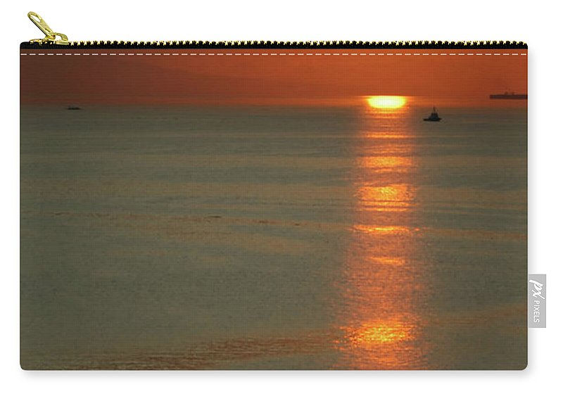 East Carry-all Pouch featuring the photograph Manila Bay Sunset by Vanwyckexpress