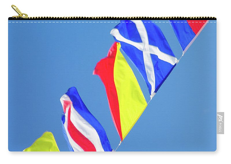 Marine Carry-all Pouch featuring the photograph Maritime Signal Flags by David Smith