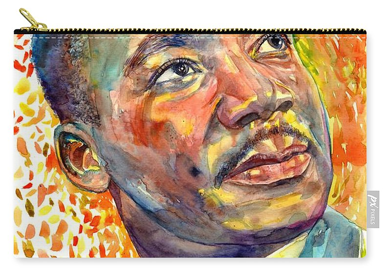 Martin Luther King Jr Carry-all Pouch featuring the painting Martin Luther King Jr Portrait by Suzann Sines