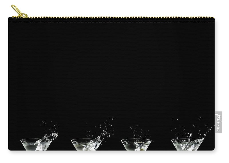 Martini Glass Carry-all Pouch featuring the photograph Martini Splash by Monica Rodriguez