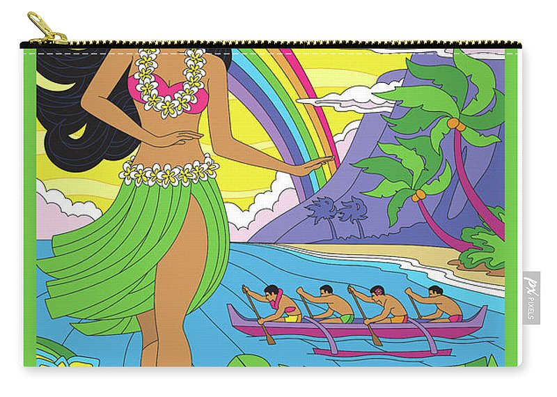 Maui Carry-all Pouch featuring the digital art Maui Poster - Pop Art - Travel by Jim Zahniser