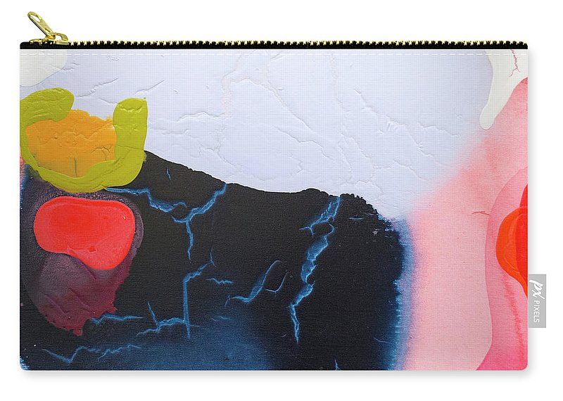 Abstract Carry-all Pouch featuring the painting Maya 01 by Claire Desjardins