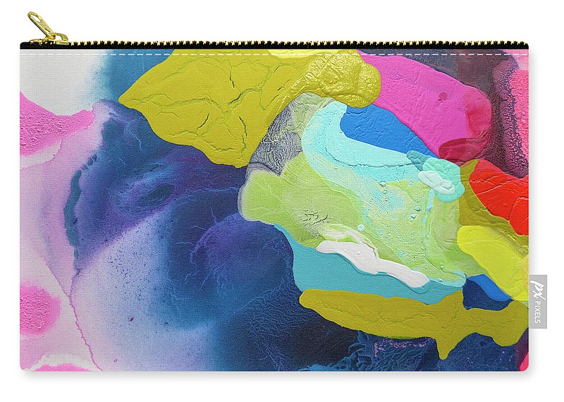 Abstract Carry-all Pouch featuring the painting Maya 02 by Claire Desjardins