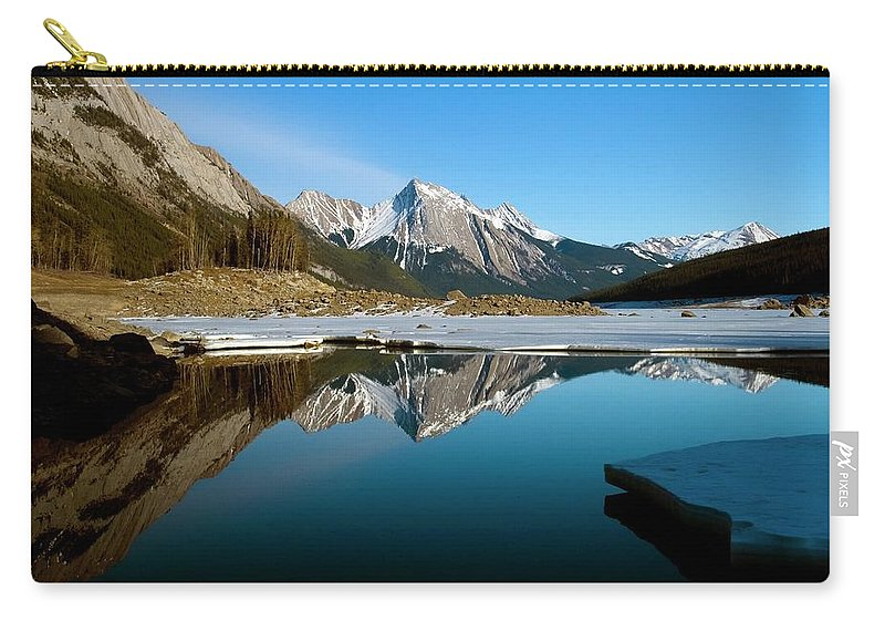 Scenics Carry-all Pouch featuring the photograph Medicine Lake, Jasper National Park by Design Pics/richard Wear