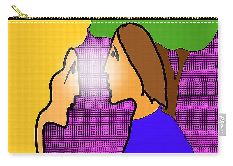 Quiros Carry-all Pouch featuring the digital art Meeting by Jeff Quiros