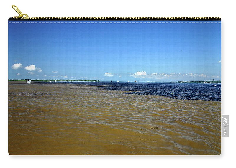 Scenics Carry-all Pouch featuring the photograph Meeting Of Waters by Eduardo Bassotto