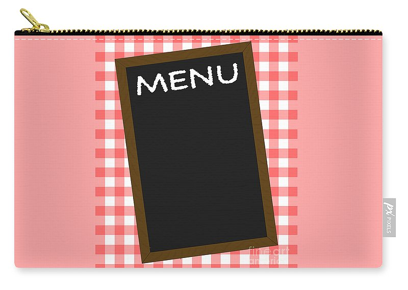 Menu Carry-all Pouch featuring the digital art Menu by Bigalbaloo Stock