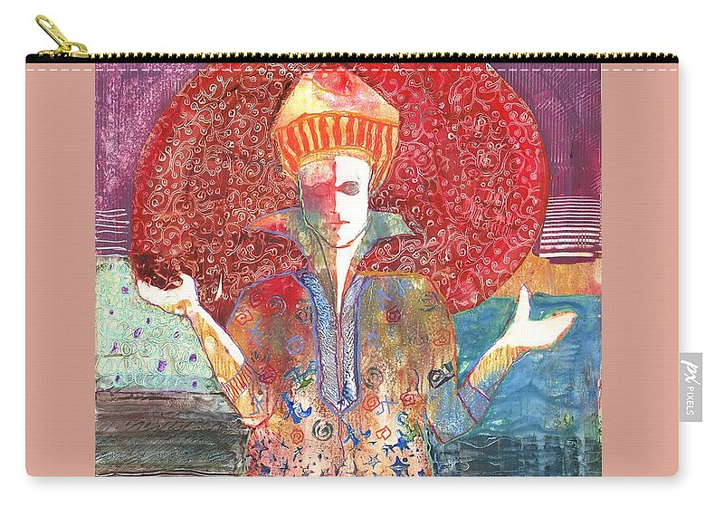 Yupo Carry-all Pouch featuring the painting Merlin's Choice by Yolanda Koh