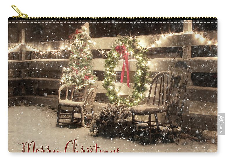 Christmas Carry-all Pouch featuring the photograph Merry Christmas To All by Lori Deiter