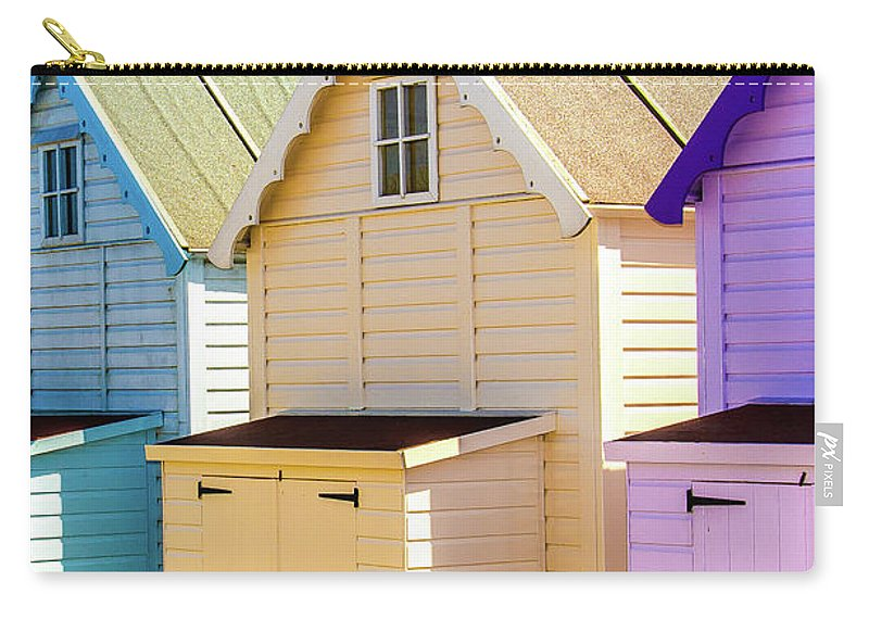 West Mersea Carry-all Pouch featuring the photograph Mersea Island Beach Huts, Image 6 by Jonny Essex