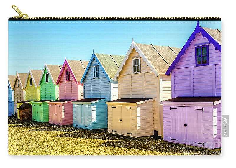 West Mersea Carry-all Pouch featuring the photograph Mersea Island Beach Huts, Image 9 by Jonny Essex