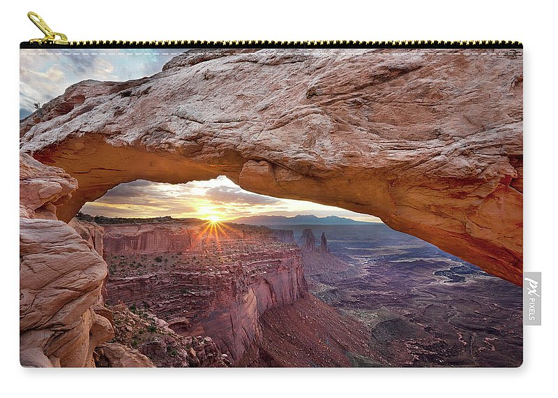Tranquility Carry-all Pouch featuring the photograph Mesa Arch, Canyonlands, Utah by Simon J Byrne