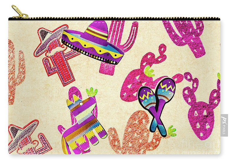 Fiesta Carry-all Pouch featuring the photograph Mexican Mural by Jorgo Photography - Wall Art Gallery