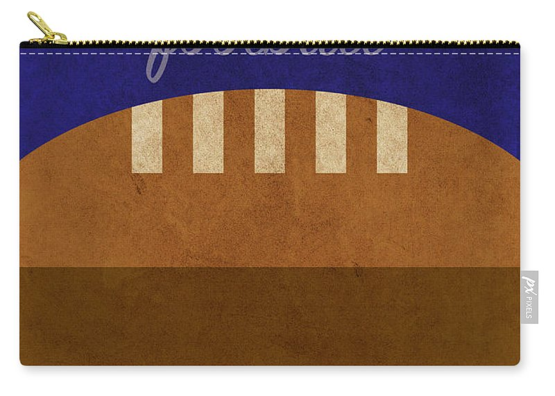Michigan Carry-all Pouch featuring the mixed media Michigan Football Minimalist Retro Sports Poster Series 001 by Design Turnpike