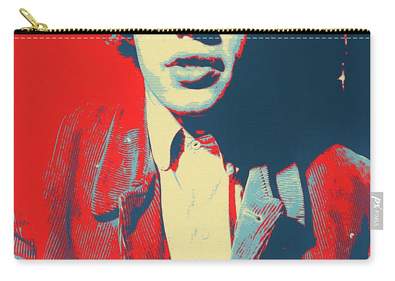 Mick Jagger Color Pop Carry-all Pouch featuring the mixed media Mick Pop Art by Dan Sproul