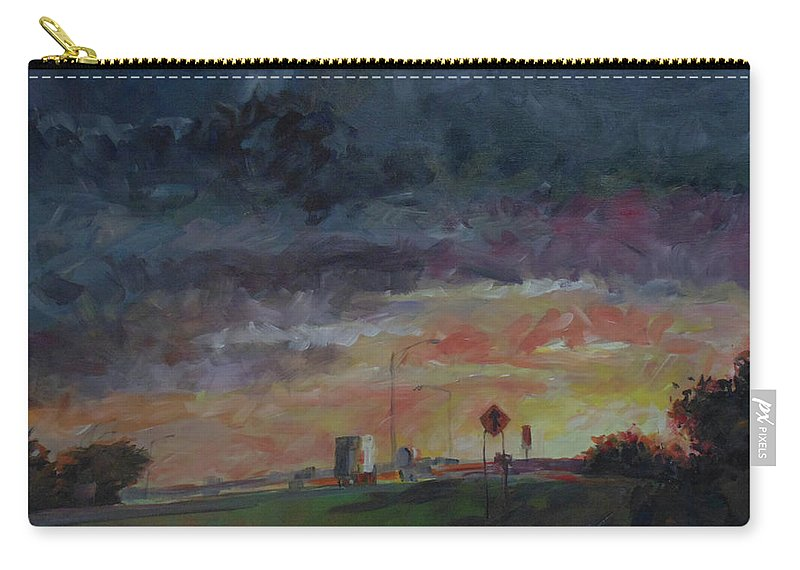Impressionist Carry-all Pouch featuring the painting Midwest Merge by Susan Moore