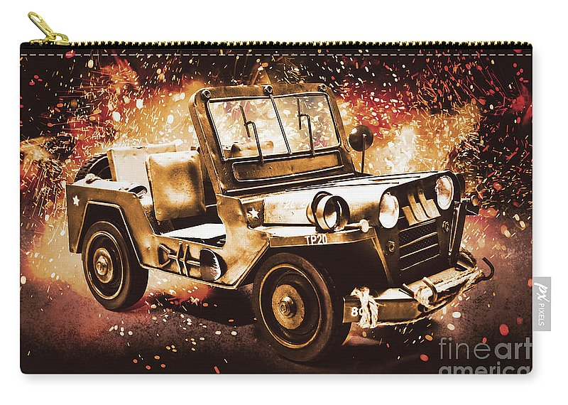Military Carry-all Pouch featuring the photograph Military Machine by Jorgo Photography - Wall Art Gallery