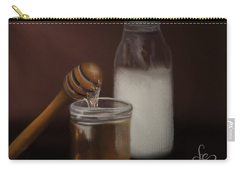 Carry-all Pouch featuring the painting Milk And Honey by Fe Jones