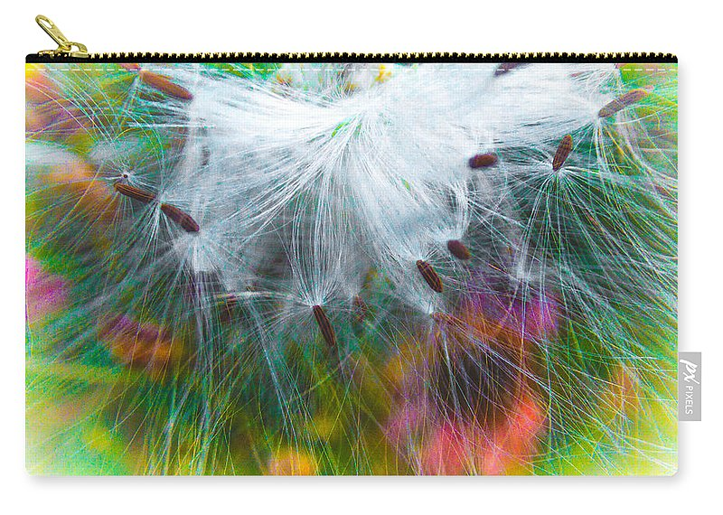 Milkweed Carry-all Pouch featuring the photograph Milking The Weed by Ali Bailey