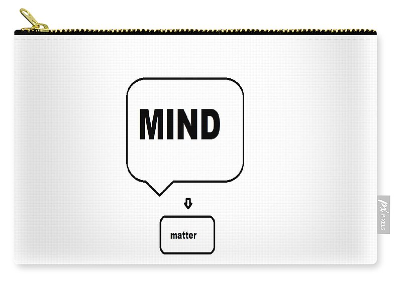 Print Carry-all Pouch featuring the digital art Mind over matter by Andrew Johnson