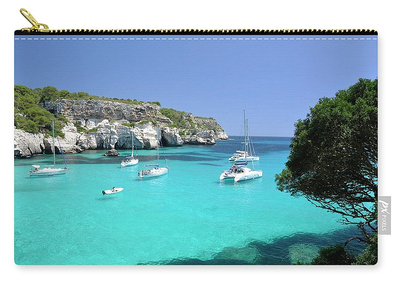 Scenics Carry-all Pouch featuring the photograph Minorca, Cala Macarella by Stefano Salvetti