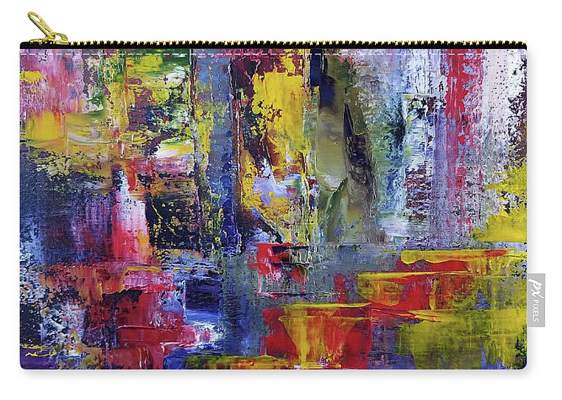 Abstract Carry-all Pouch featuring the painting Mirrored Steps by Nathan Steinke