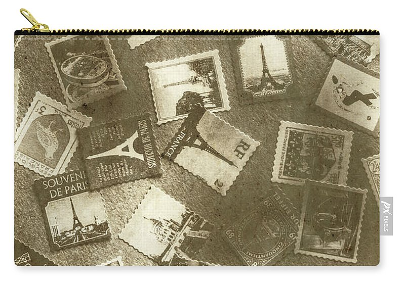 Stamps Carry-all Pouch featuring the photograph Missing Mail Dept. by Jorgo Photography - Wall Art Gallery
