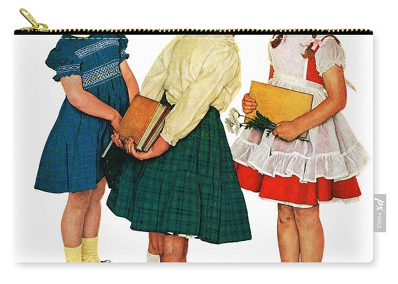 Books Carry-all Pouch featuring the drawing Missing Tooth by Norman Rockwell